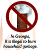Illegal to burn Household Garbage